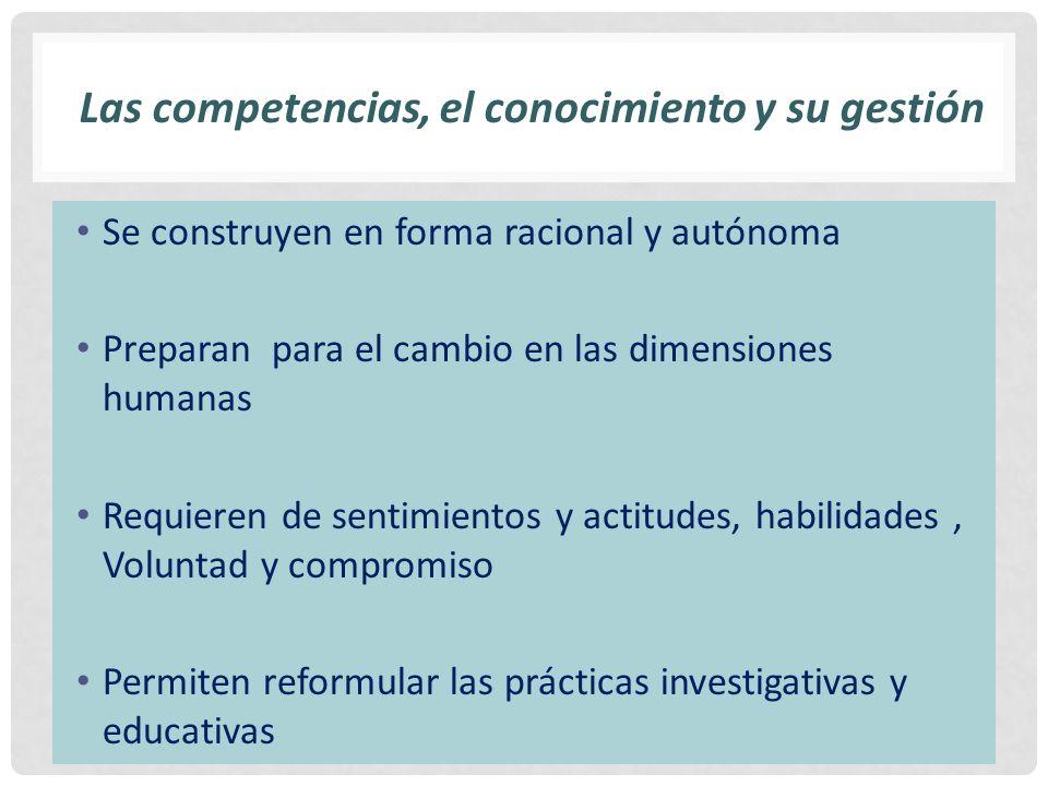 Las competencias, el conocimiento y su gestión