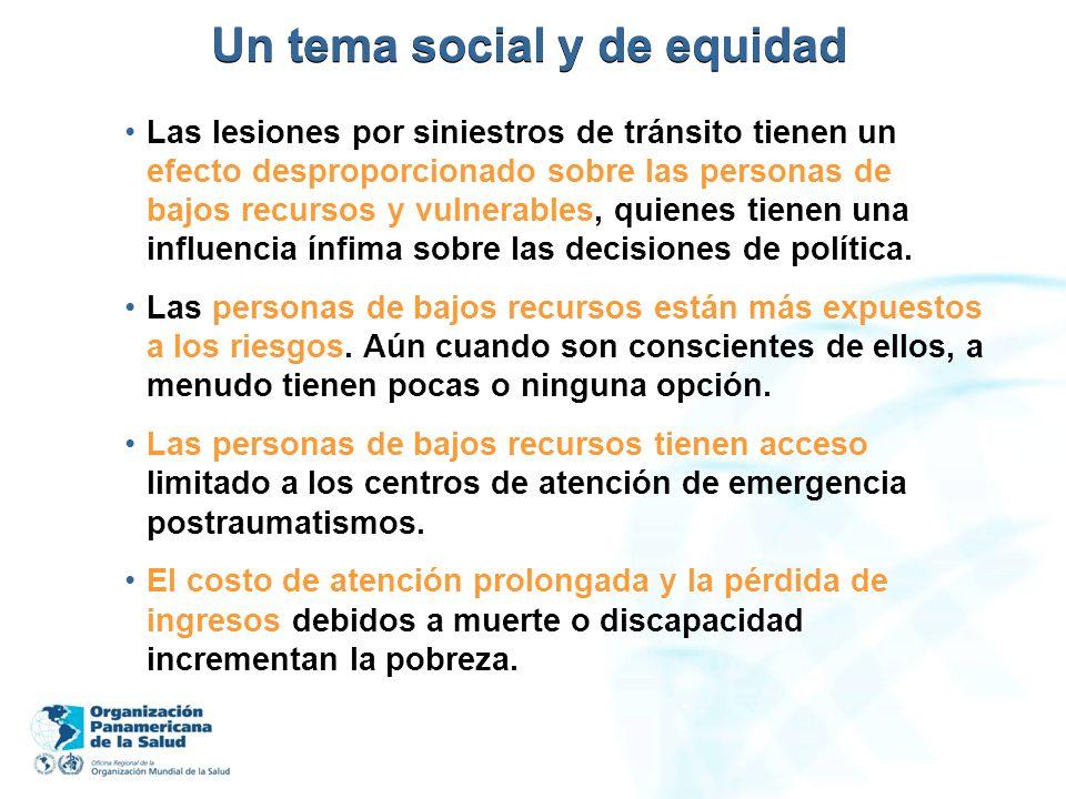 Un tema social y de equidad