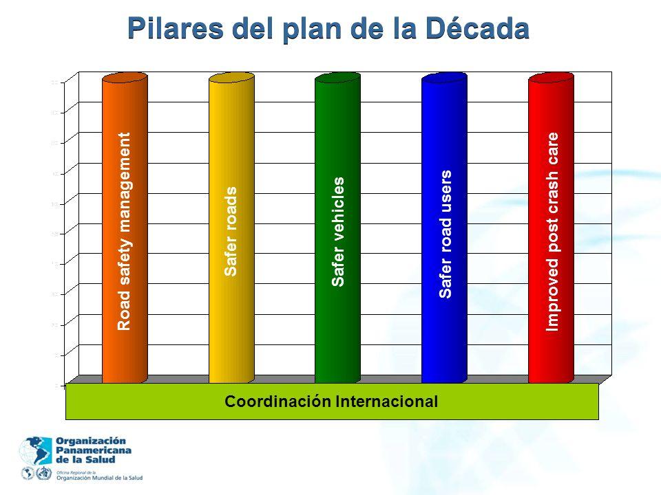 Pilares del plan de la Década Coordinación Internacional