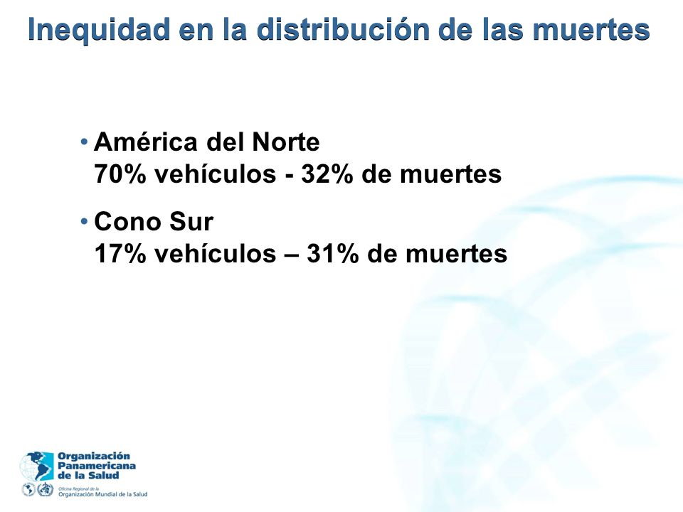 Inequidad en la distribución de las muertes