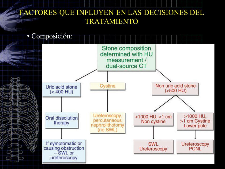 FACTORES QUE INFLUYEN EN LAS DECISIONES DEL TRATAMIENTO
