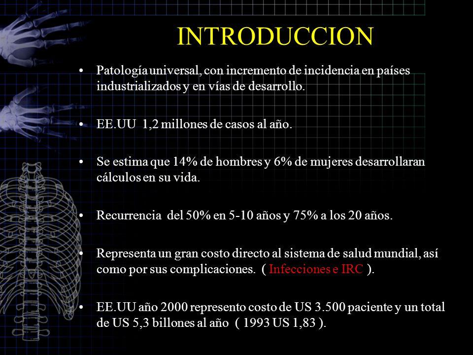 INTRODUCCION Patología universal, con incremento de incidencia en países industrializados y en vías de desarrollo.