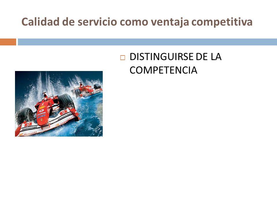 Calidad de servicio como ventaja competitiva