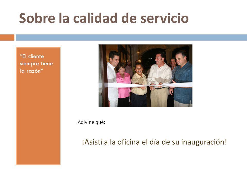 Sobre la calidad de servicio