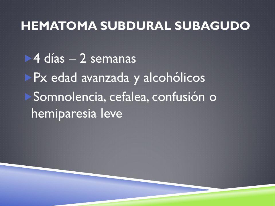 Hematoma subdural subagudo