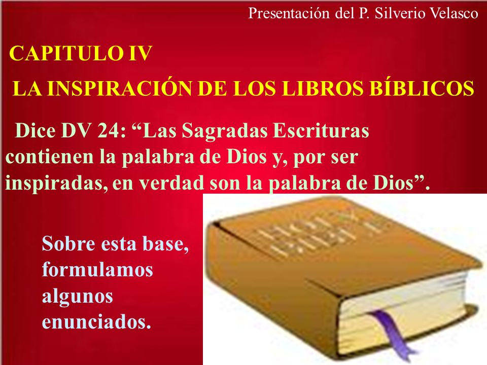 LA INSPIRACIÓN DE LOS LIBROS BÍBLICOS
