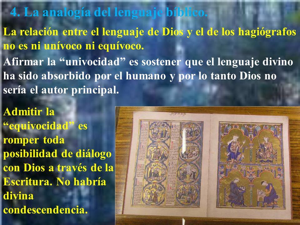 4. La analogía del lenguaje bíblico.