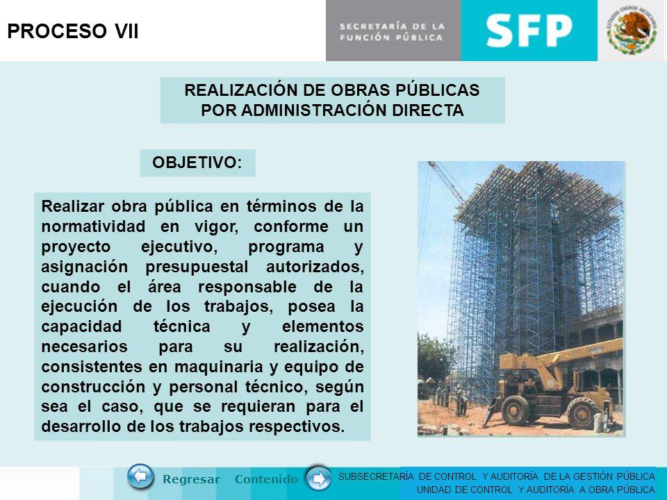 REALIZACIÓN DE OBRAS PÚBLICAS POR ADMINISTRACIÓN DIRECTA