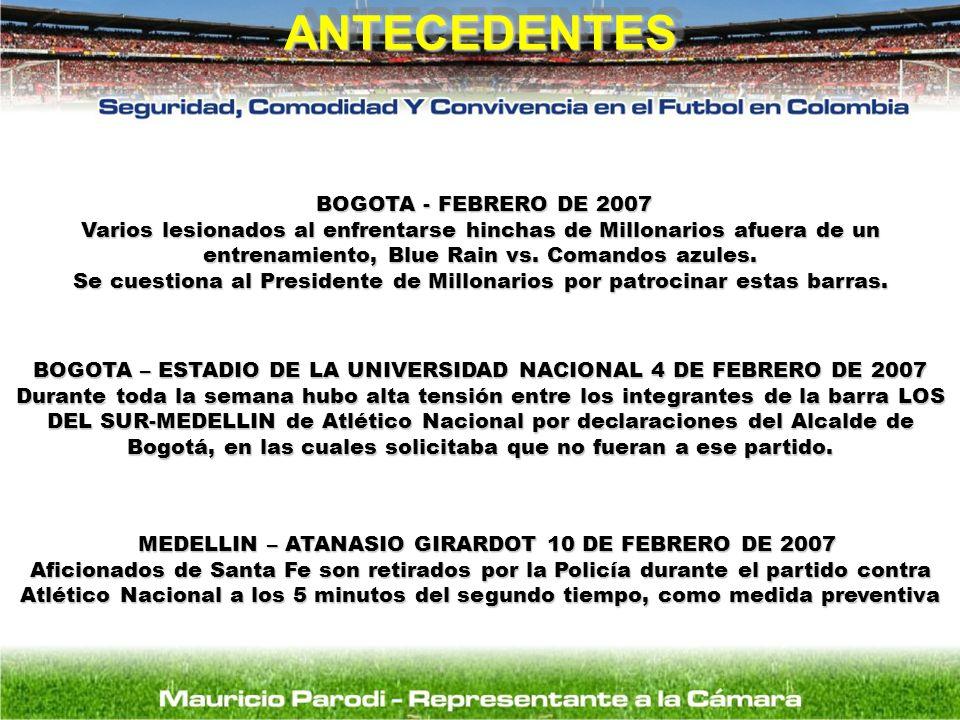 ANTECEDENTES BOGOTA - FEBRERO DE 2007