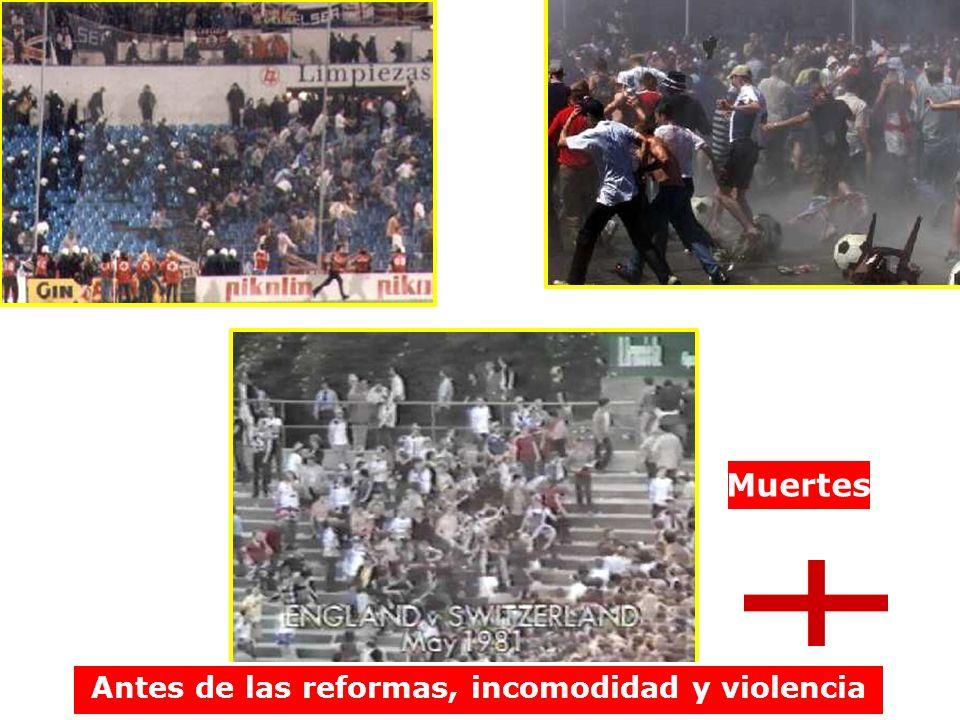 Antes de las reformas, incomodidad y violencia