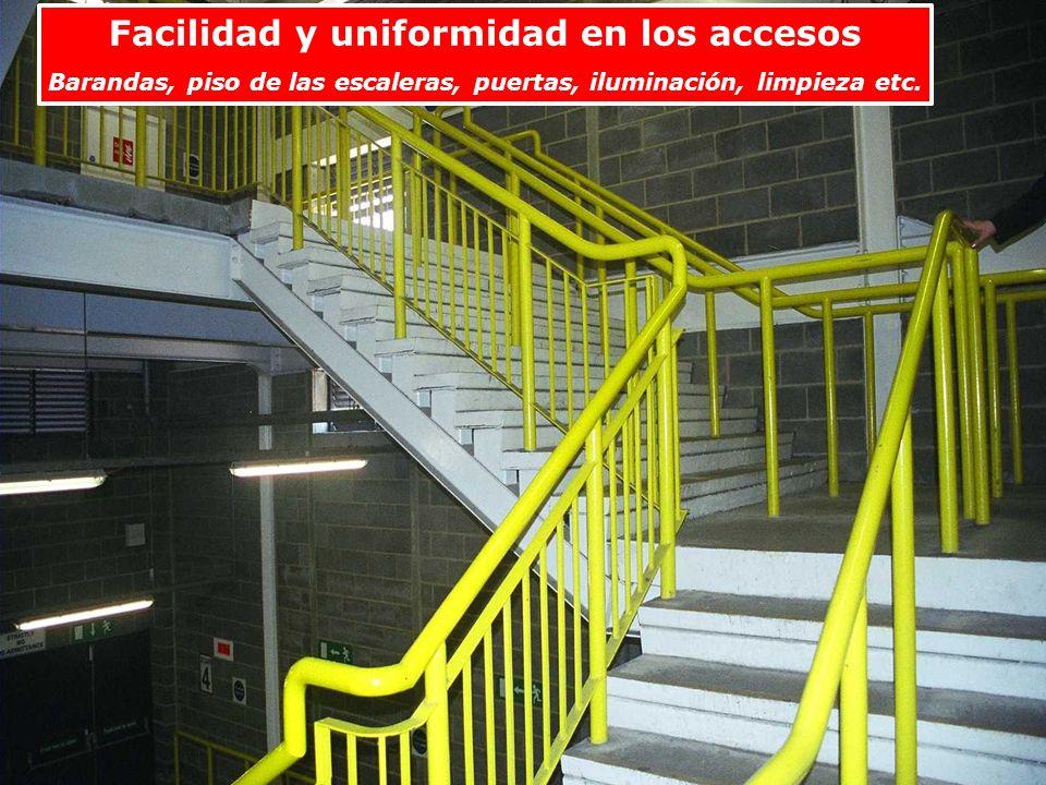 Facilidad y uniformidad en los accesos