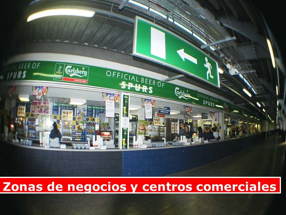 Zonas de negocios y centros comerciales
