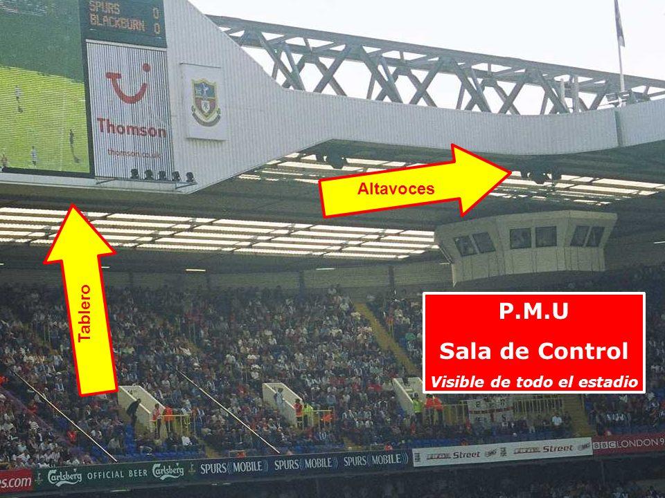 Visible de todo el estadio