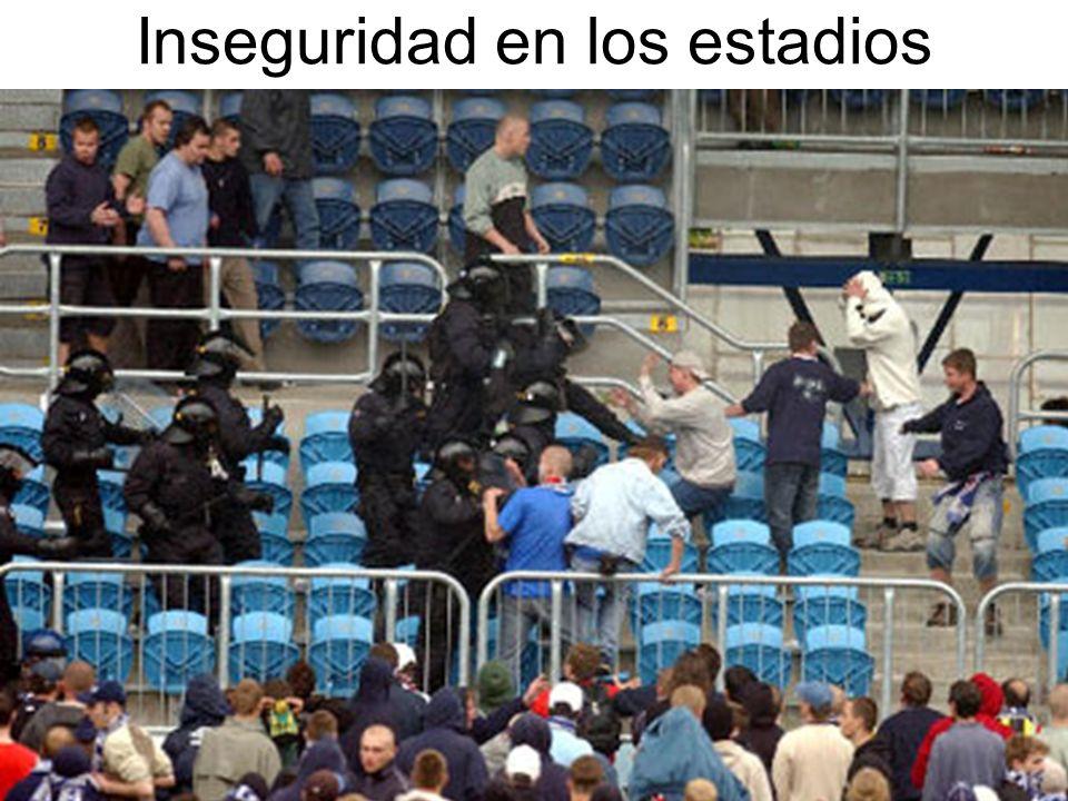 Inseguridad en los estadios
