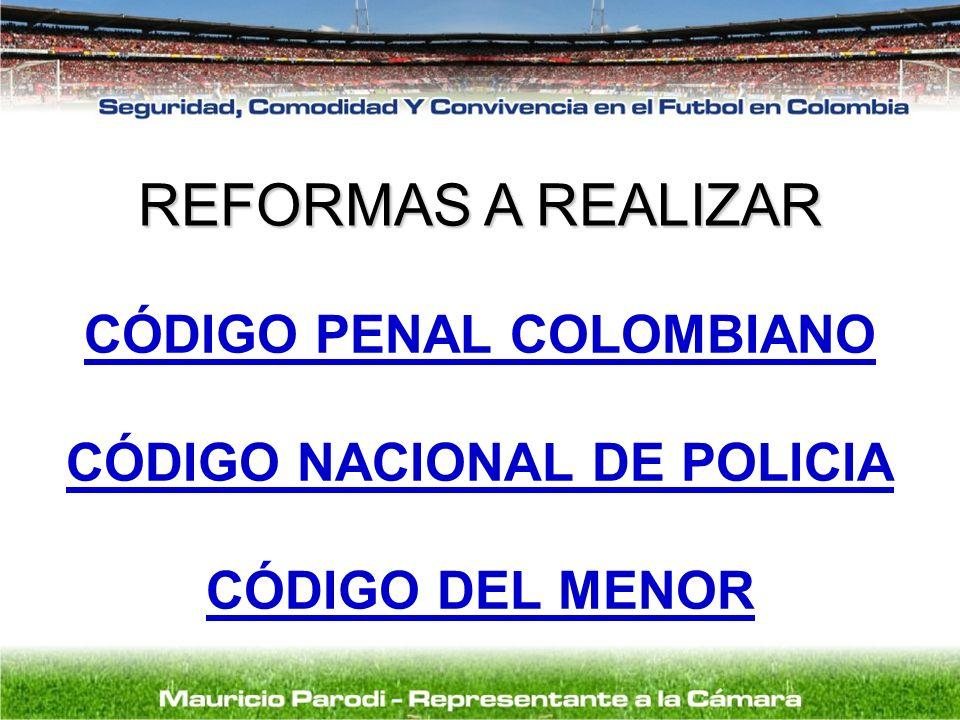 CÓDIGO PENAL COLOMBIANO CÓDIGO NACIONAL DE POLICIA