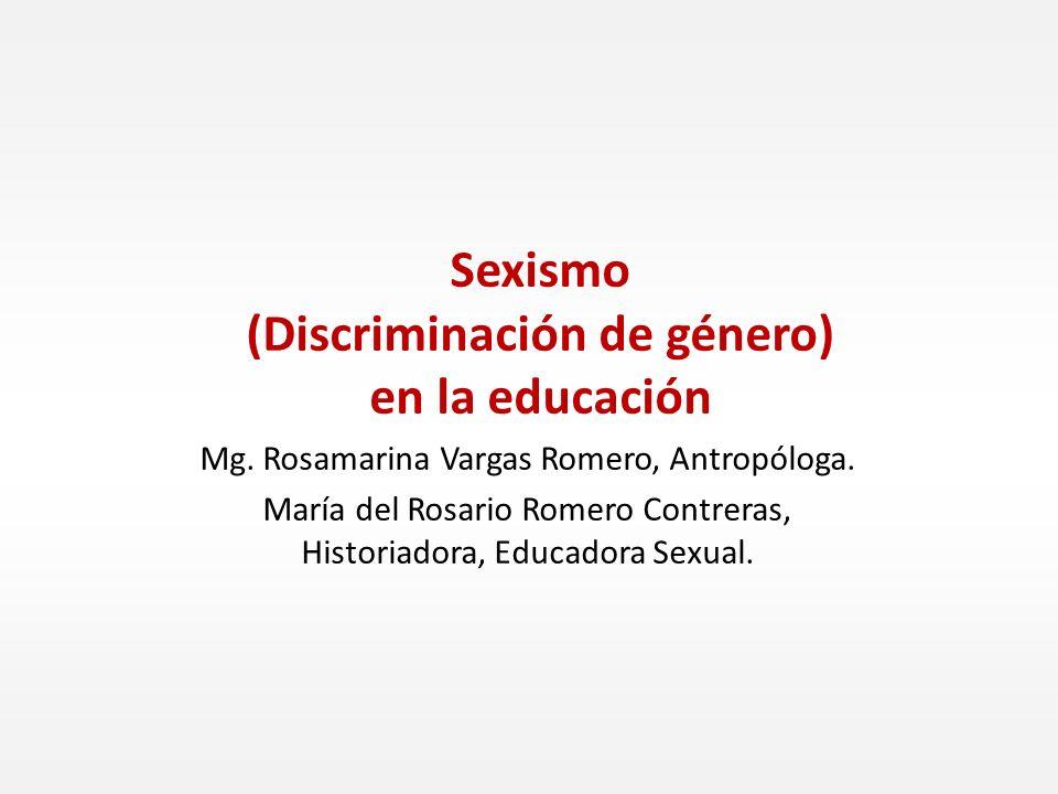 Sexismo (Discriminación de género) en la educación