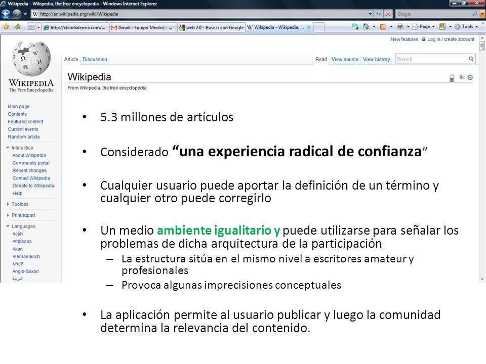 Wikipedia 5.3 millones de artículos