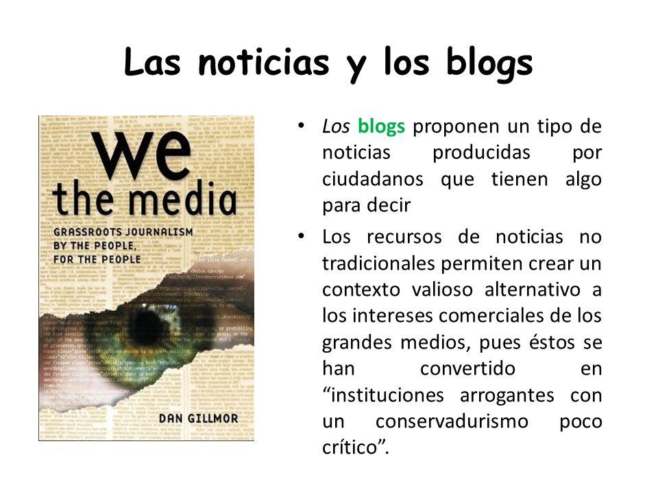 Las noticias y los blogs