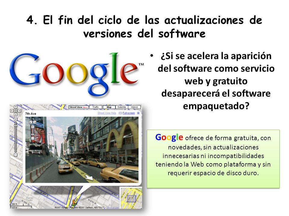 4. El fin del ciclo de las actualizaciones de versiones del software