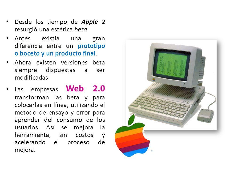 Desde los tiempo de Apple 2 resurgió una estética beta
