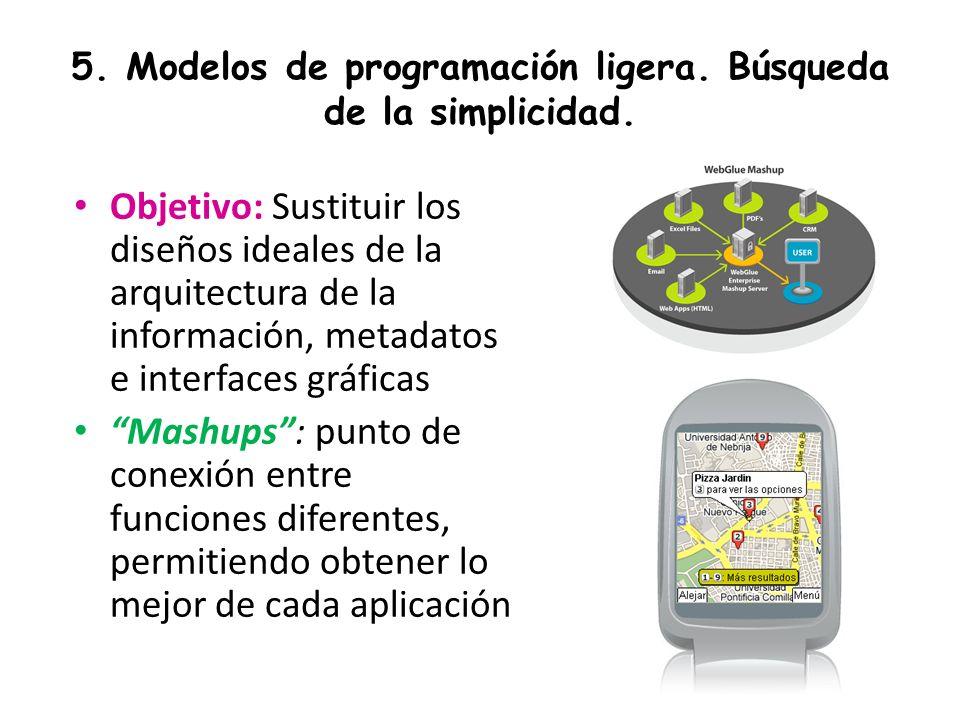 5. Modelos de programación ligera. Búsqueda de la simplicidad.