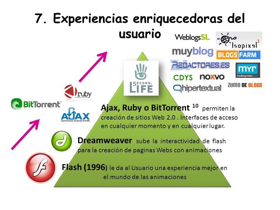 7. Experiencias enriquecedoras del usuario
