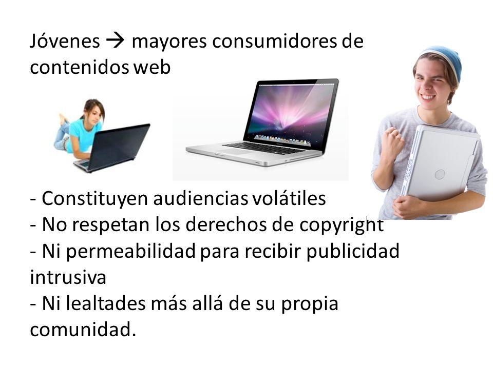 Jóvenes  mayores consumidores de contenidos web