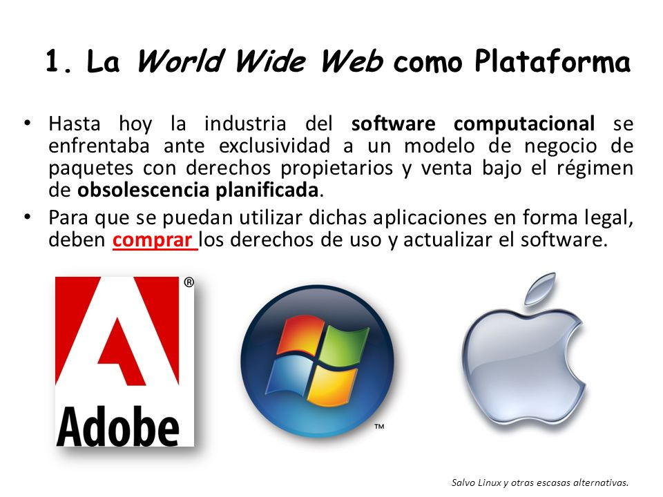 1. La World Wide Web como Plataforma