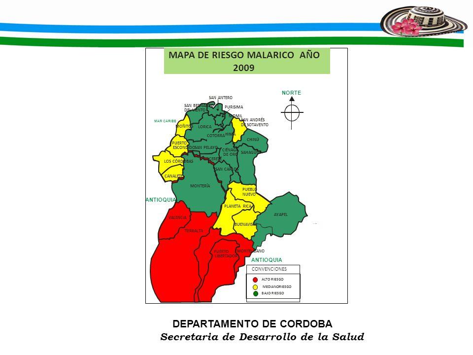 MAPA DE RIESGO MALARICO AÑO 2009