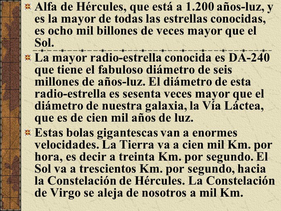 Alfa de Hércules, que está a 1