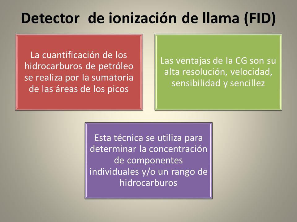 Detector de ionización de llama (FID)