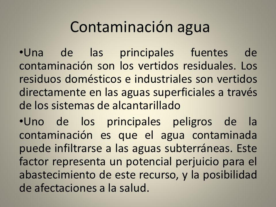 Contaminación agua
