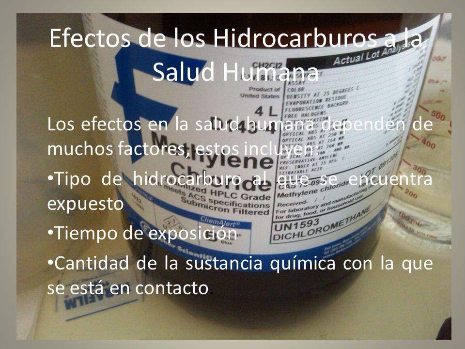 Efectos de los Hidrocarburos a la Salud Humana