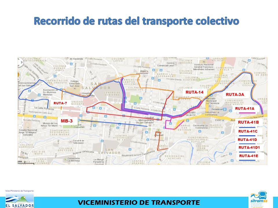 Recorrido de rutas del transporte colectivo