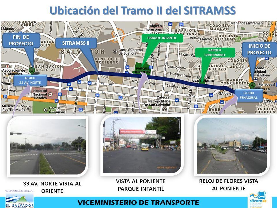 Ubicación del Tramo II del SITRAMSS