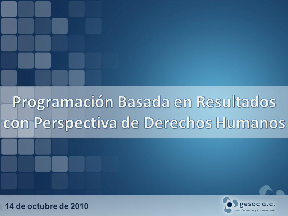 Programación Basada en Resultados con Perspectiva de Derechos Humanos