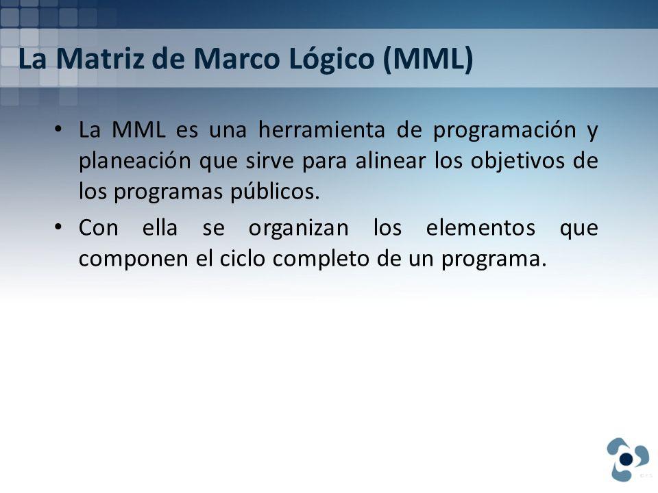 La Matriz de Marco Lógico (MML)