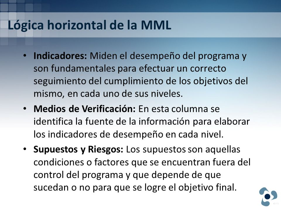 Lógica horizontal de la MML