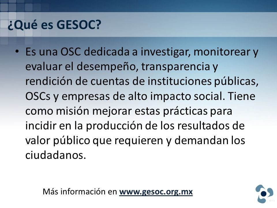 ¿Qué es GESOC