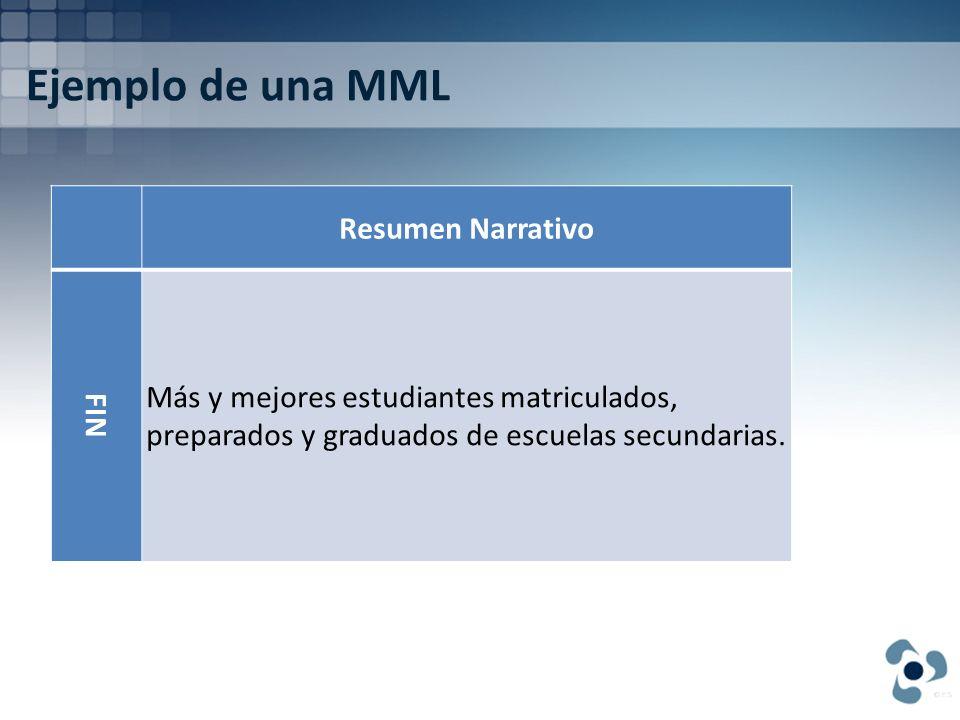 Ejemplo de una MML Resumen Narrativo FIN