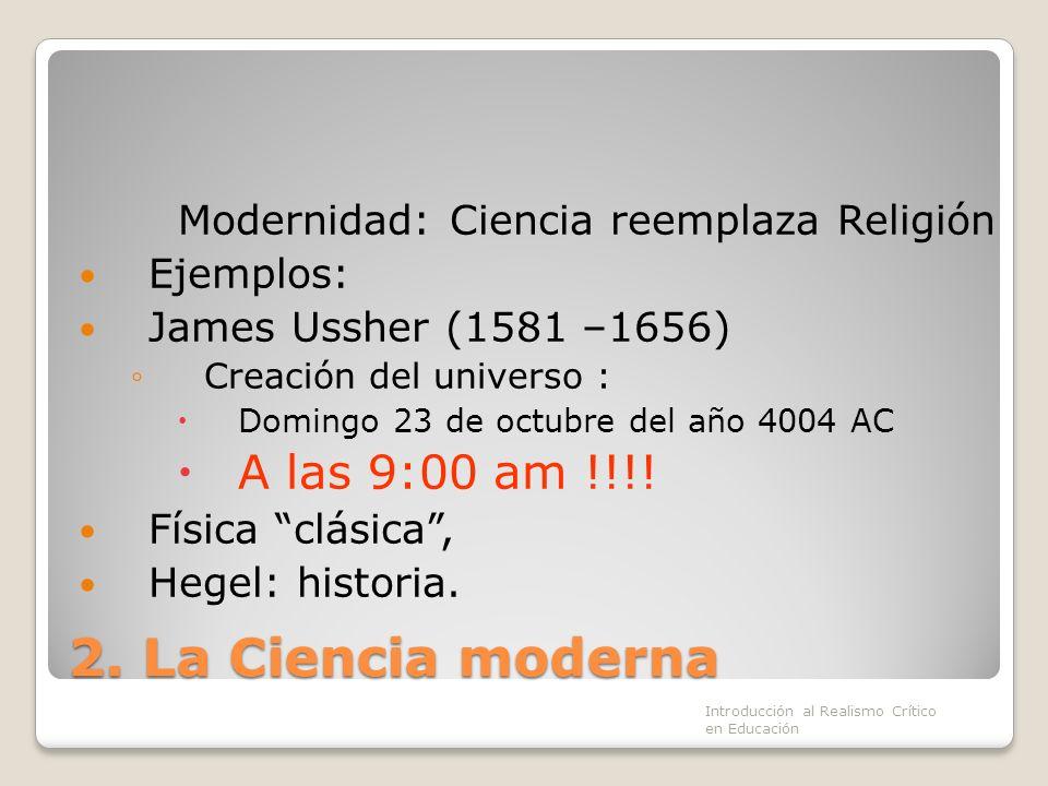 Modernidad: Ciencia reemplaza Religión