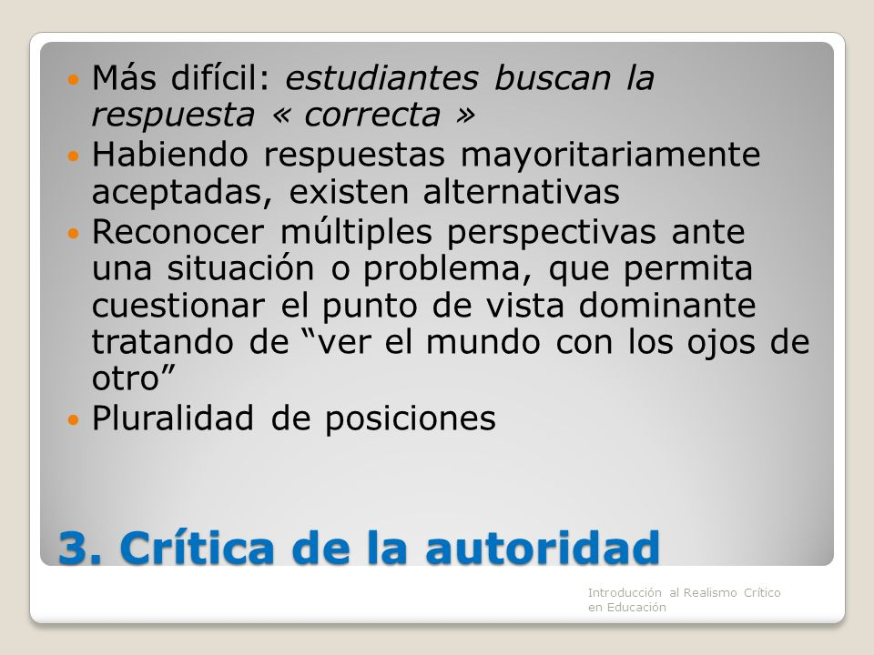 3. Crítica de la autoridad