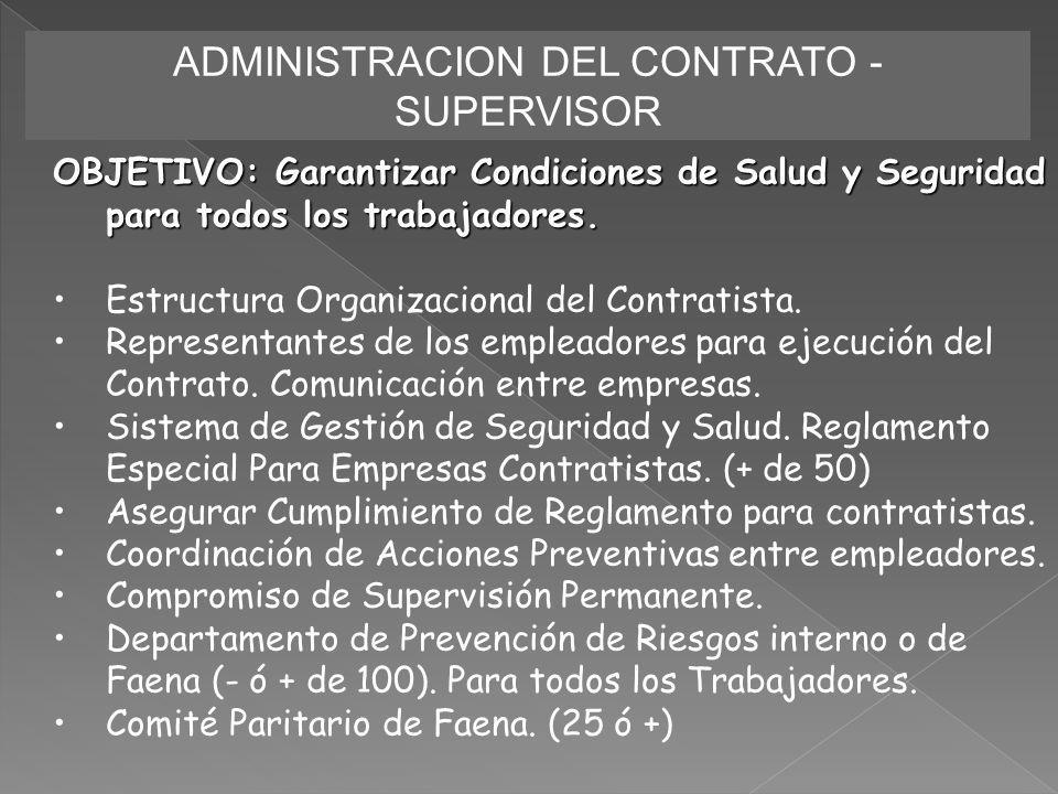 ADMINISTRACION DEL CONTRATO - SUPERVISOR