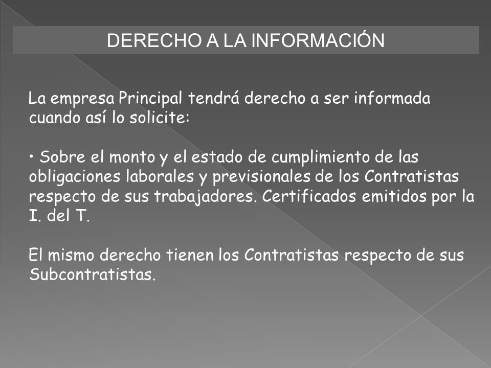 DERECHO A LA INFORMACIÓN