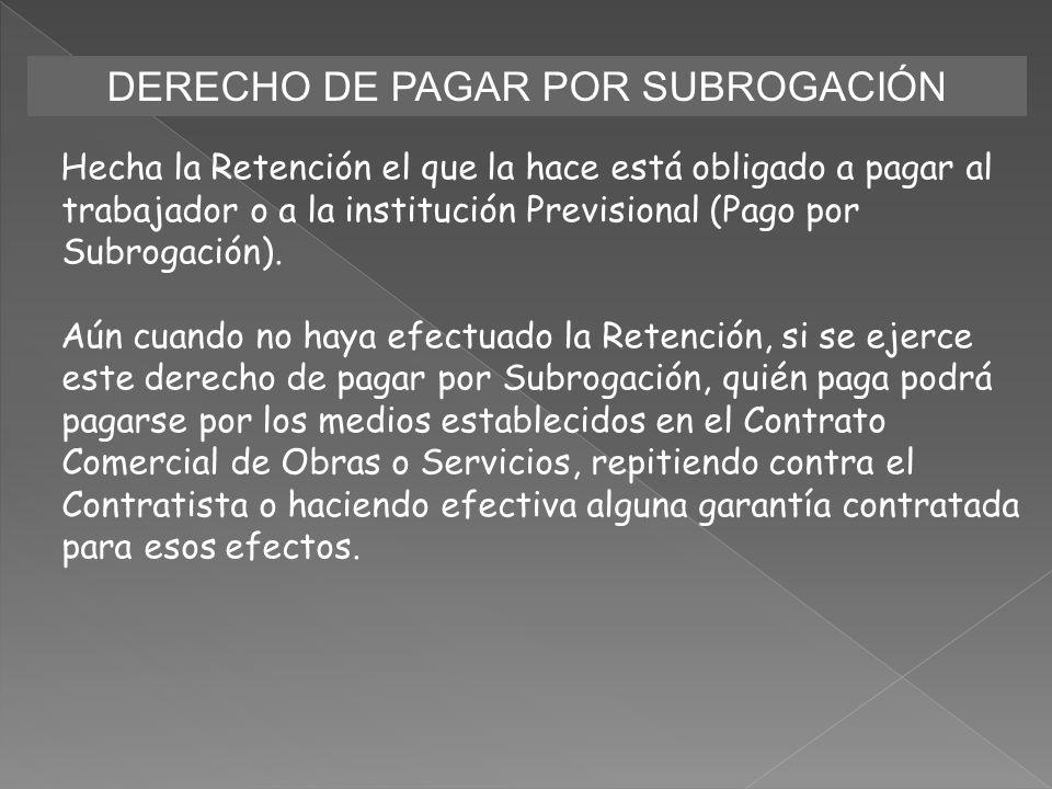 DERECHO DE PAGAR POR SUBROGACIÓN