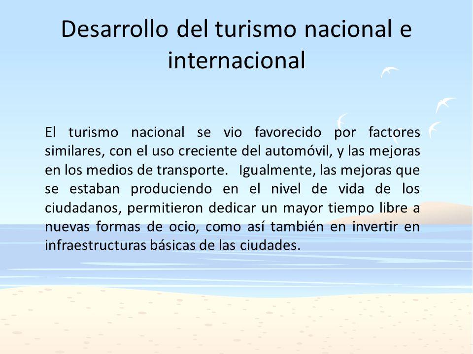 Desarrollo del turismo nacional e internacional