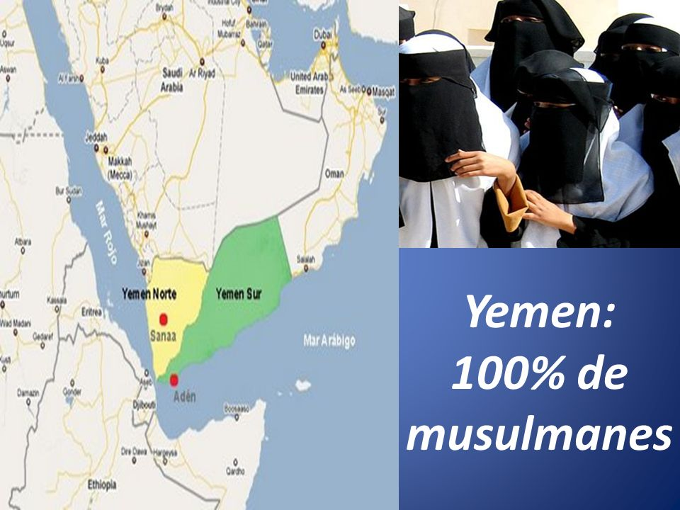Yemen: 100% de musulmanes