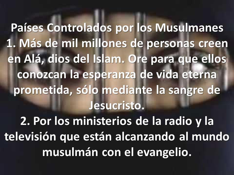 Países Controlados por los Musulmanes