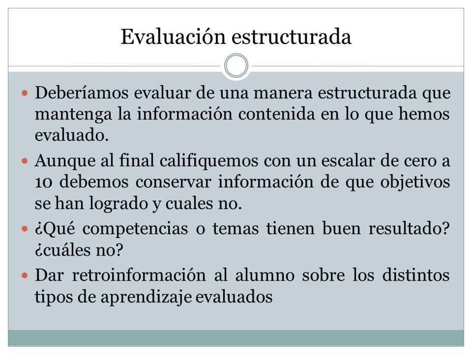 Evaluación estructurada
