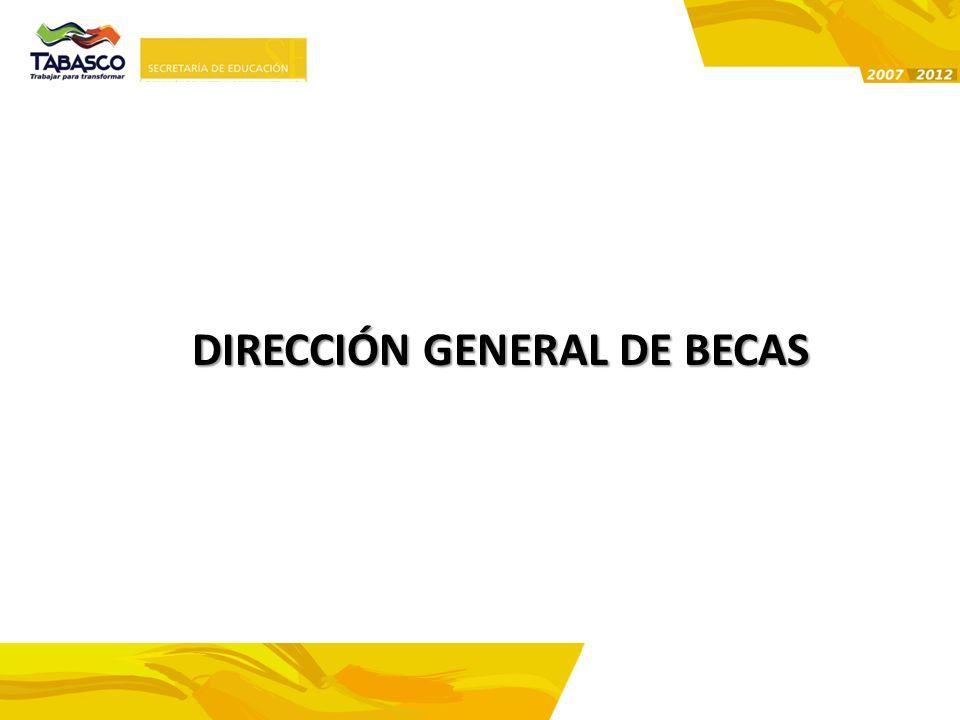 DIRECCIÓN GENERAL DE BECAS